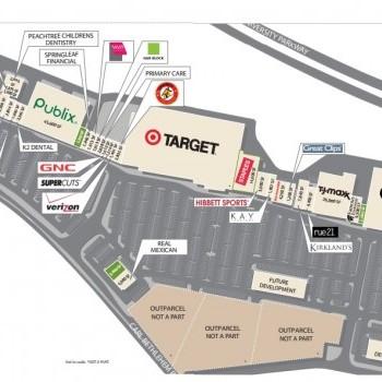 Plan of mall Barrow Crossing