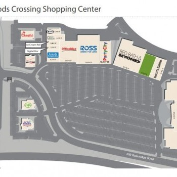 Plan of mall BarryWoods Crossing Shopping Center