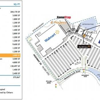 Plan of mall Bartow Marketplace
