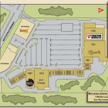 Plan of mall Battlefield Centre Shopping Center