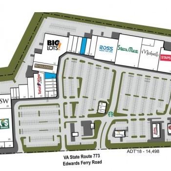 Plan of mall Battlefield Shopping Center