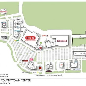 Plan of mall Bay Colony Town Center