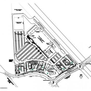 Plan of mall Baybrook Center