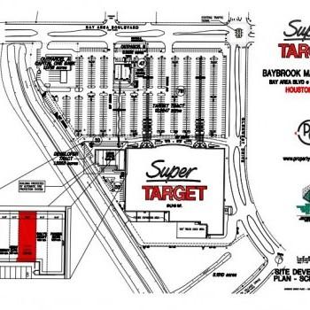 Plan of mall Baybrook Marketplace