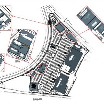 Plan of mall Bayonne Crossing