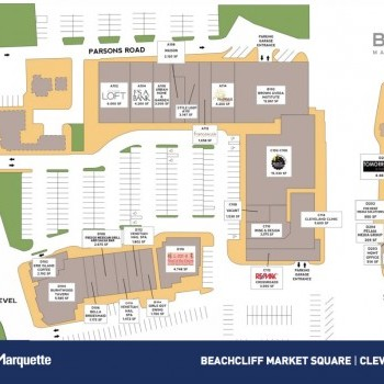 Plan of mall Beachcliff Market Square