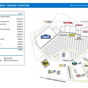 Plan of mall Beavercreek Towne Centre