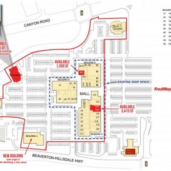 Plan of mall Beaverton Town Square