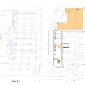 Plan of mall Bedford Grove Shopping Center