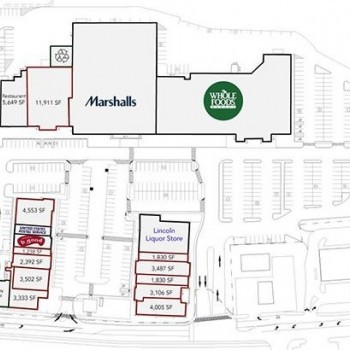 Plan of mall Bedford Marketplace