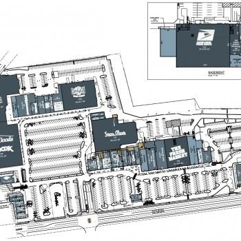 Plan of mall Beechwood Shopping Center