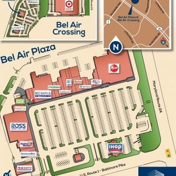 Plan of mall Bel Air Plaza - Bel Air Crossing