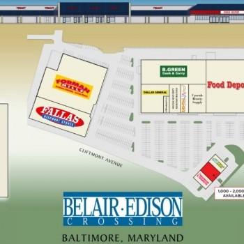Plan of mall Belair Edison Crossing