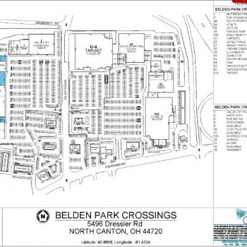 Plan of mall Belden Park Crossings