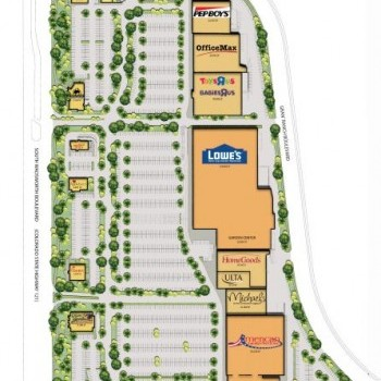 Plan of mall Belleview Shores