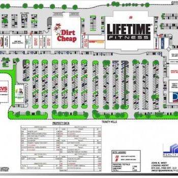 Plan of mall Bent Tree Hills