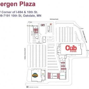 Plan of mall Bergen Plaza