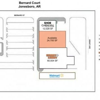 Plan of mall Bernard Court