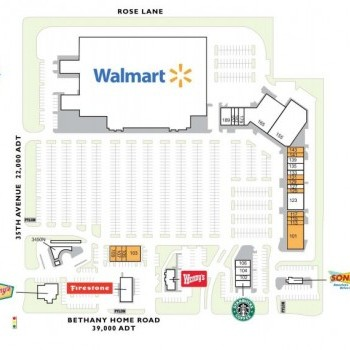 Plan of mall Bethany Towne Center