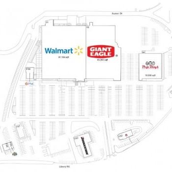 Plan of mall Bethel Park