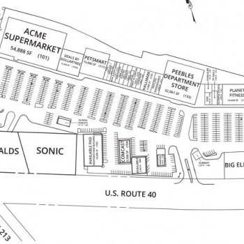 Plan of mall Big Elk Shopping Centre