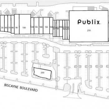 Plan of mall Biscayne Commons