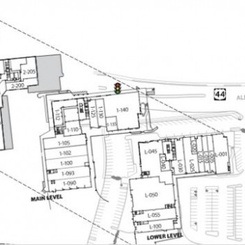 Plan of mall Bishops Corner West