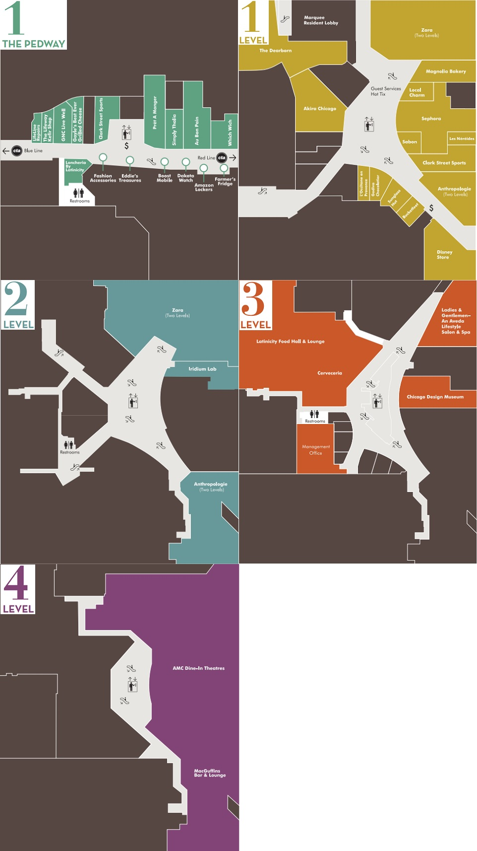 tolls in chicago map Block 37 Store List Hours Location Chicago Illinois Malls In America