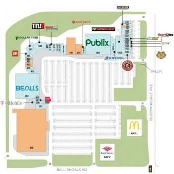 Plan of mall Bloomingdale Square