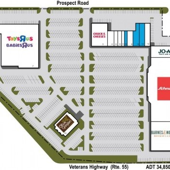 Plan of mall Bloomington Commons