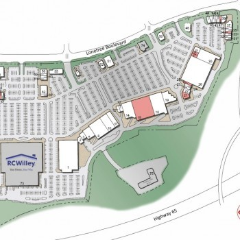 Plan of mall Blue Oaks Town Center