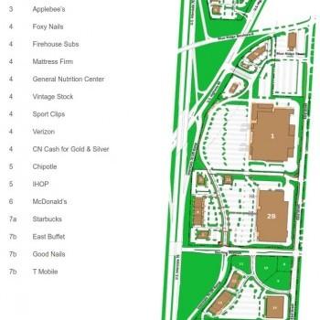 Plan of mall Blue Ridge Crossing