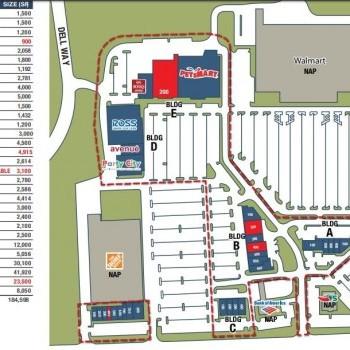 Plan of mall Boardwalk Shopping Center