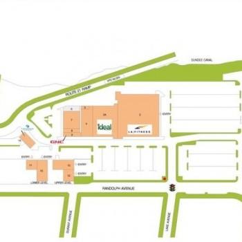 Plan of mall Botany Plaza