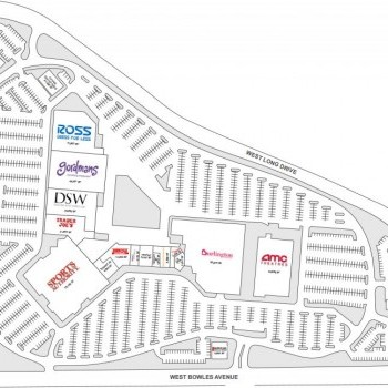 Plan of mall Bowles Crossing Shopping Center