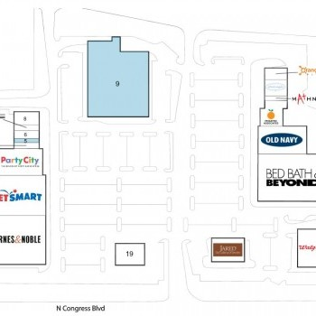Plan of mall Boynton Commons