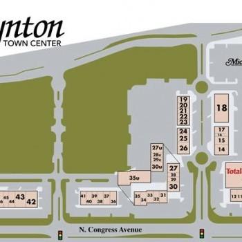 Plan of mall Boynton Town Center