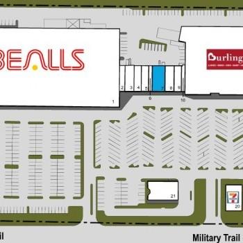 Plan of mall Boynton West Shopping Center