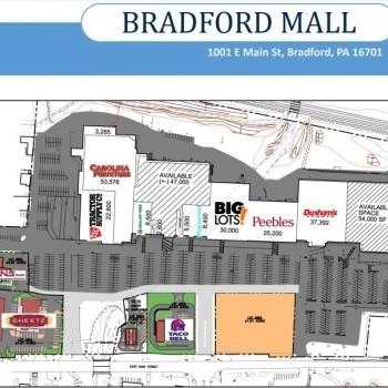 Plan of mall Bradford Mall
