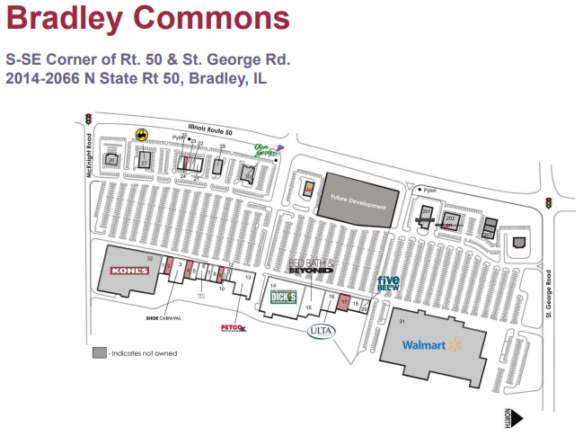 Bradley Commons Store List Hours Location Bradley Illinois