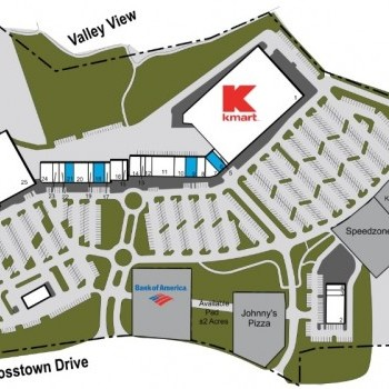 Plan of mall Braelinn Village Shopping Center