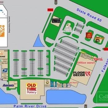 Plan of mall Brandon Crossings