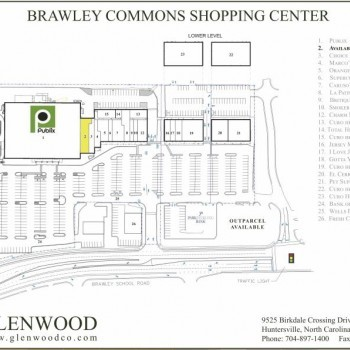 Plan of mall Brawley Commons
