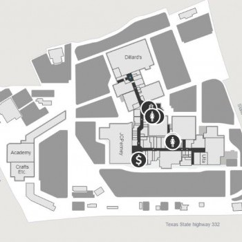 Plan of mall Brazos Mall