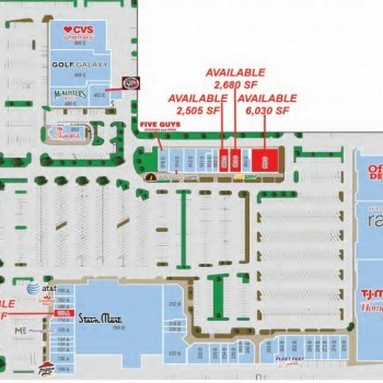 Plan of mall Brentwood Place Shopping Center
