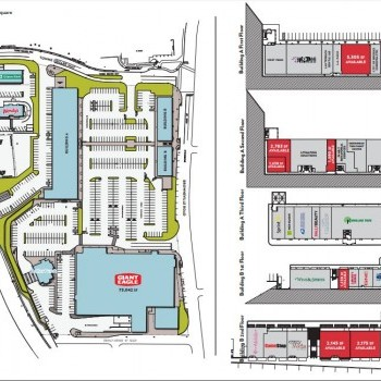 Plan of mall Brentwood Towne Square