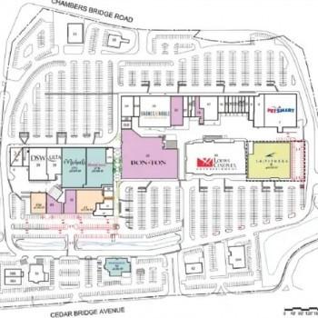 Plan of mall Brick Plaza