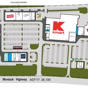 Plan of mall Bridgehampton Commons
