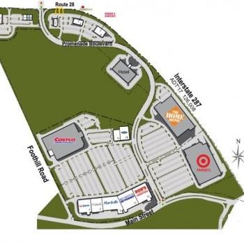 Plan of mall Bridgewater Promenade