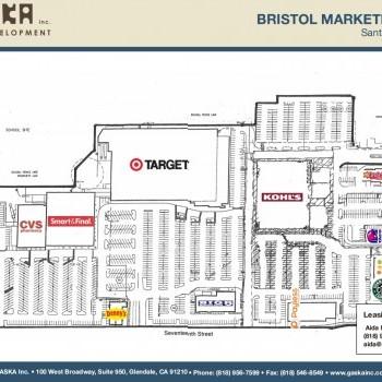 Plan of mall Bristol Marketplace
